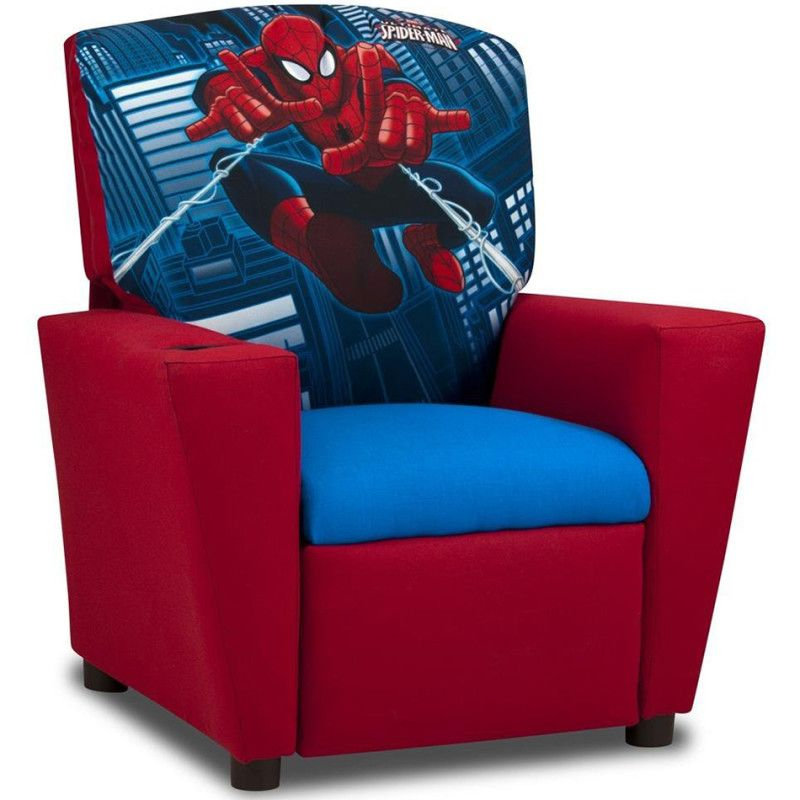 "Spiderman ""Ultimate"" Kid's Recliner  Kids Cool Toys  Vin's Wish Unique Spiderman Bedroom Furniture 2018"