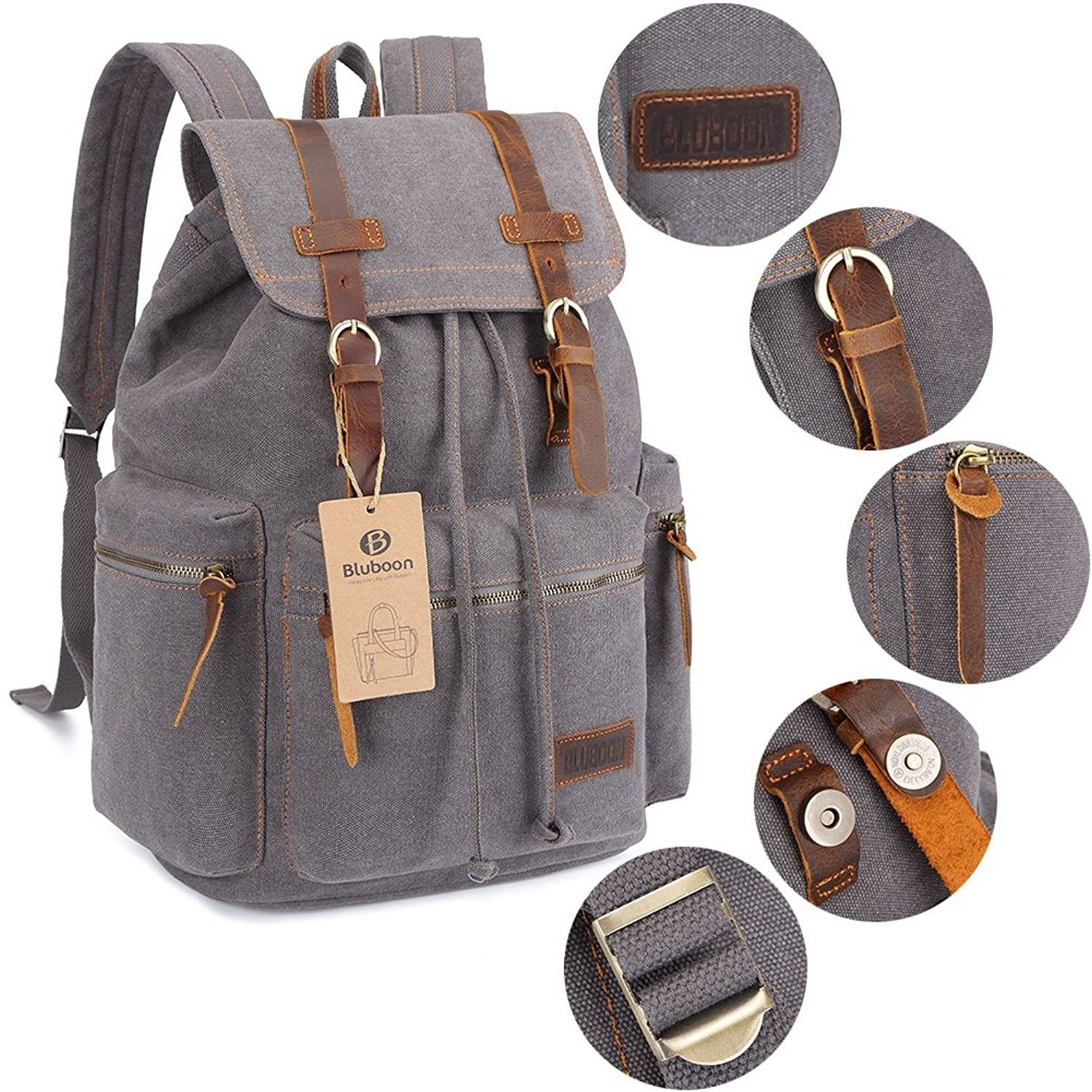 Crazy Horse Leather Men Backpack Vintage Male Students School Bags Fashion Man One Shoulder Backpack Chest Bags Brown Vintage Sales Of Quality Assurance Men's Bags