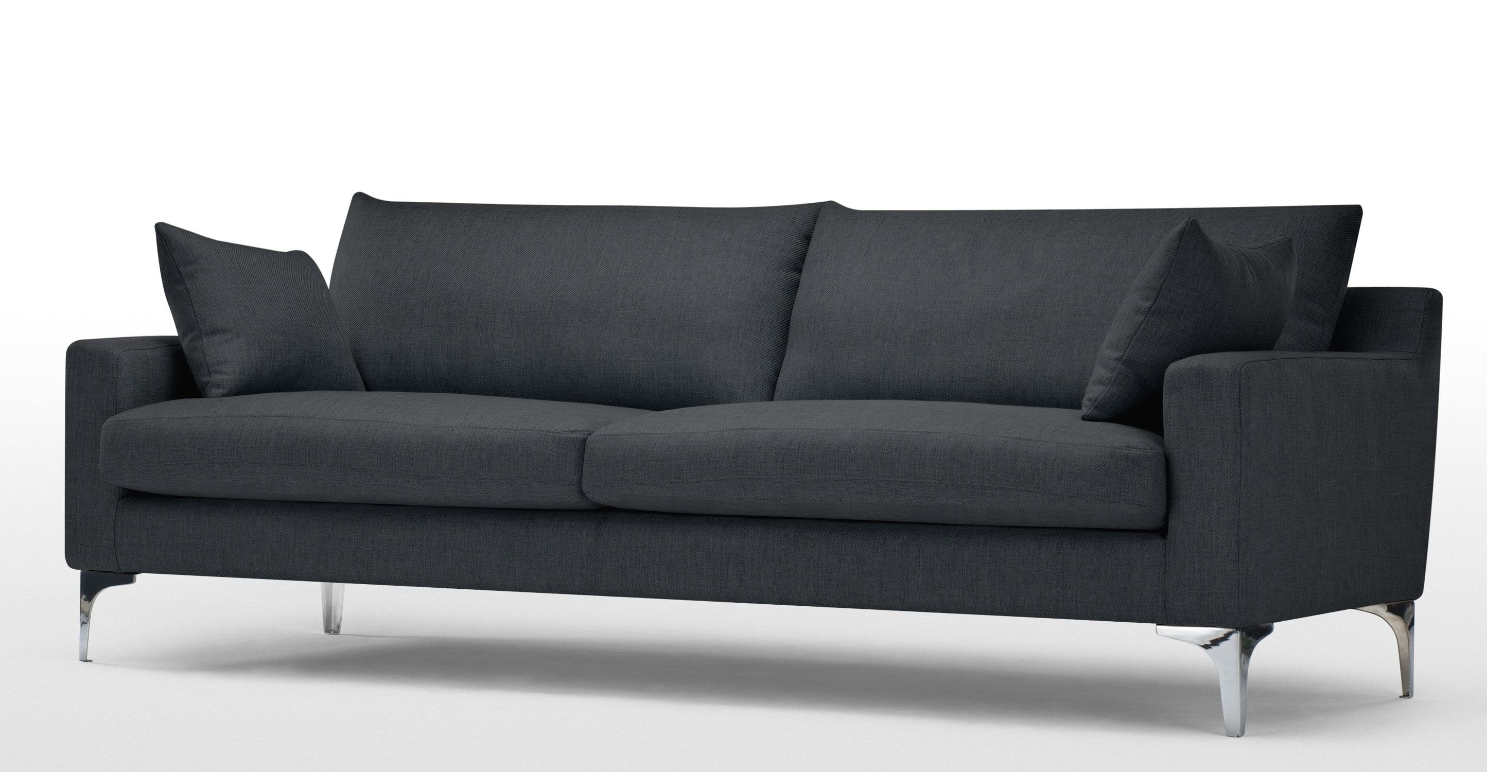 Mendini 3 Seater Sofa Anthracite Grey Canape Angle Convertible