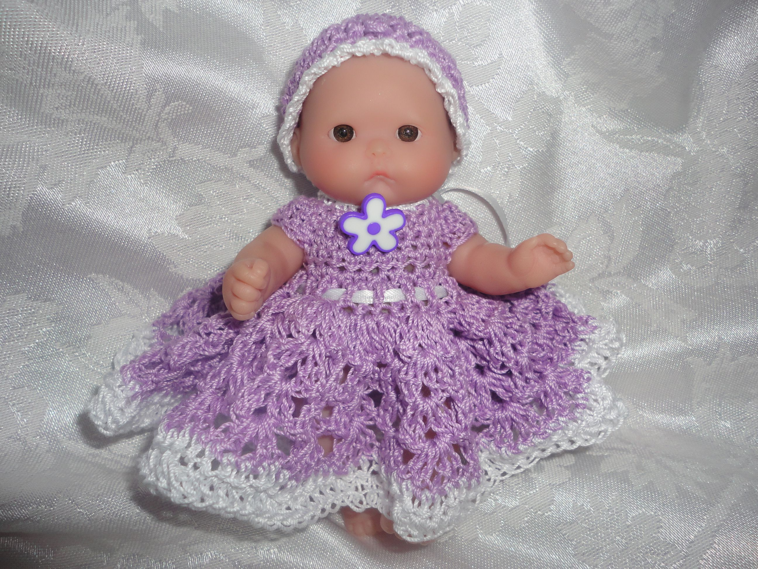 Free+Doll+Dress+Crochet+Pattern+for+Berenguer+5+Inch+or+OOAK+Clay+ ...