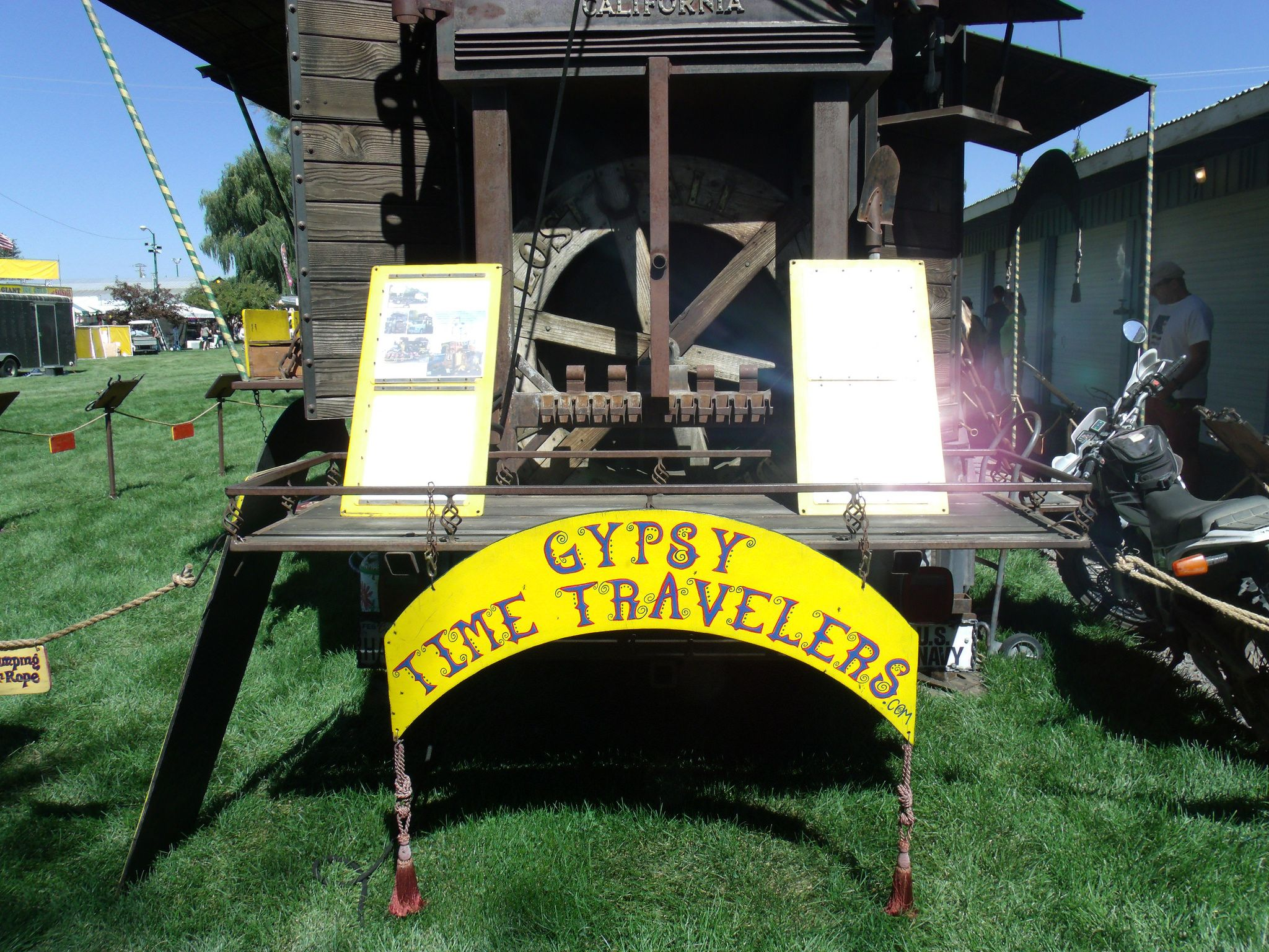 https://flic.kr/p/KCLsHK | The Gypsy Time Travelers 38 by Sherrie D. Larch | Gypsy Time Travelers'  Florence the Freightliner at the Tulelake/Butte Valley Fair in 2014, which they travel around the country sharing their folk stories.  For more information go to Gypsy Time Travelers' Facebook Page: www.facebook.com/GypsyTimeTravelers  My Facebook Artist Page: www.facebook.com/sherriedlarch/
