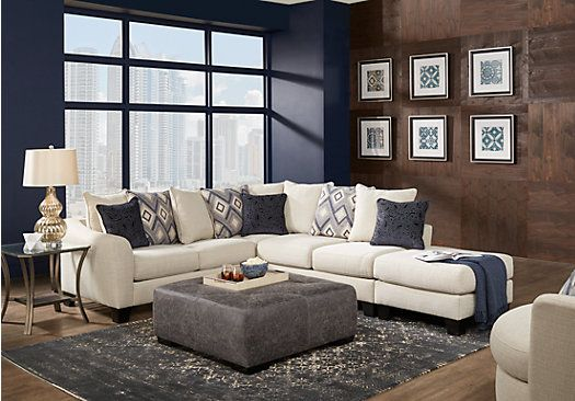 Beau Deca Drive Cream 4 Pc Sectional Living Room   Living Room Sets (Beige)