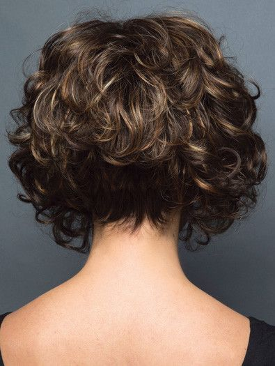 curly hair long in front short