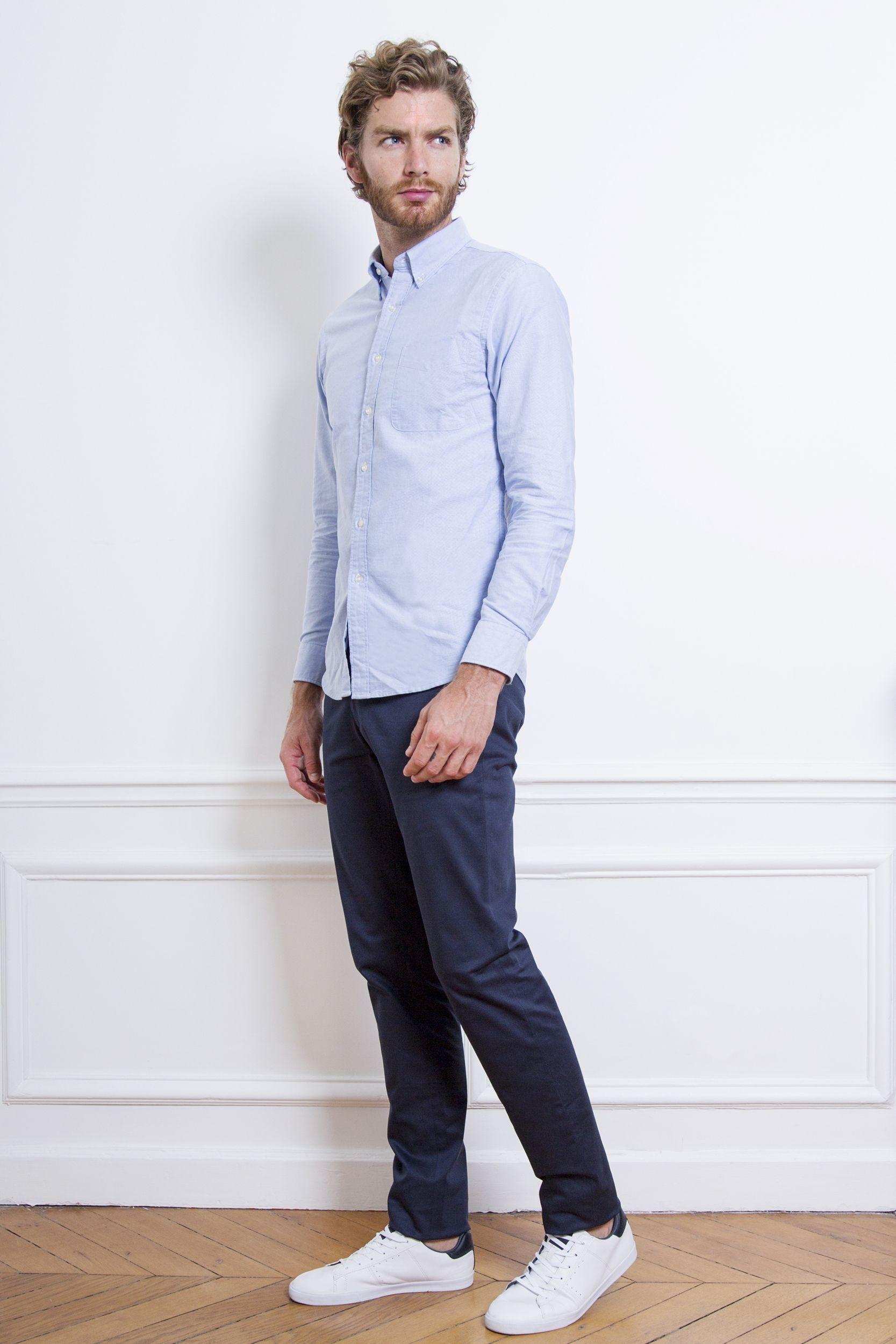 Pantalon chino bleu marine | Pantalon chino,