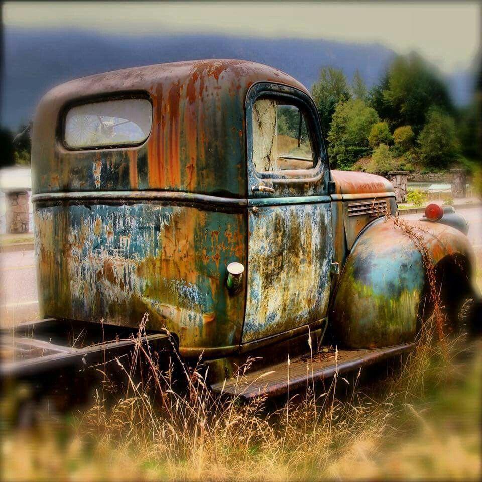 Old Truck Old trucks, Car art, Abandoned cars