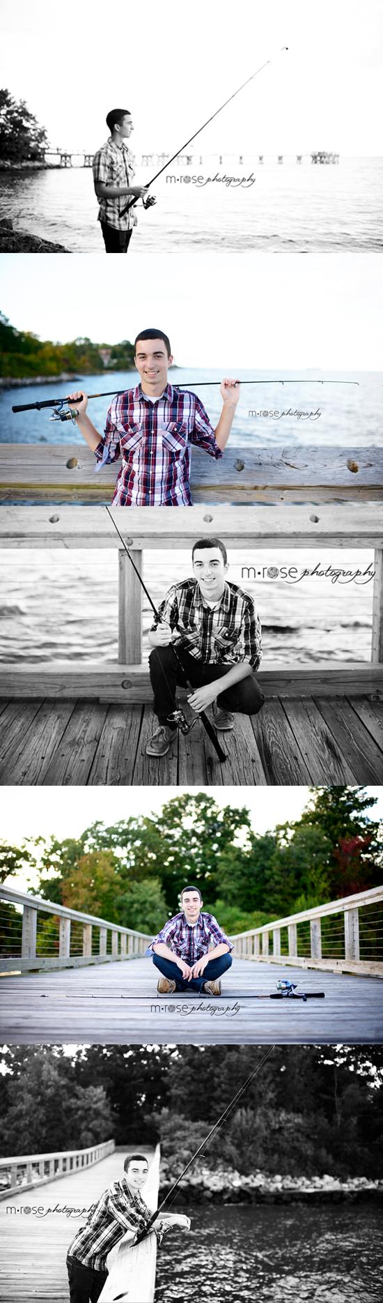 Senior guy fishing   M Rose Photography   Seniors/Headshots