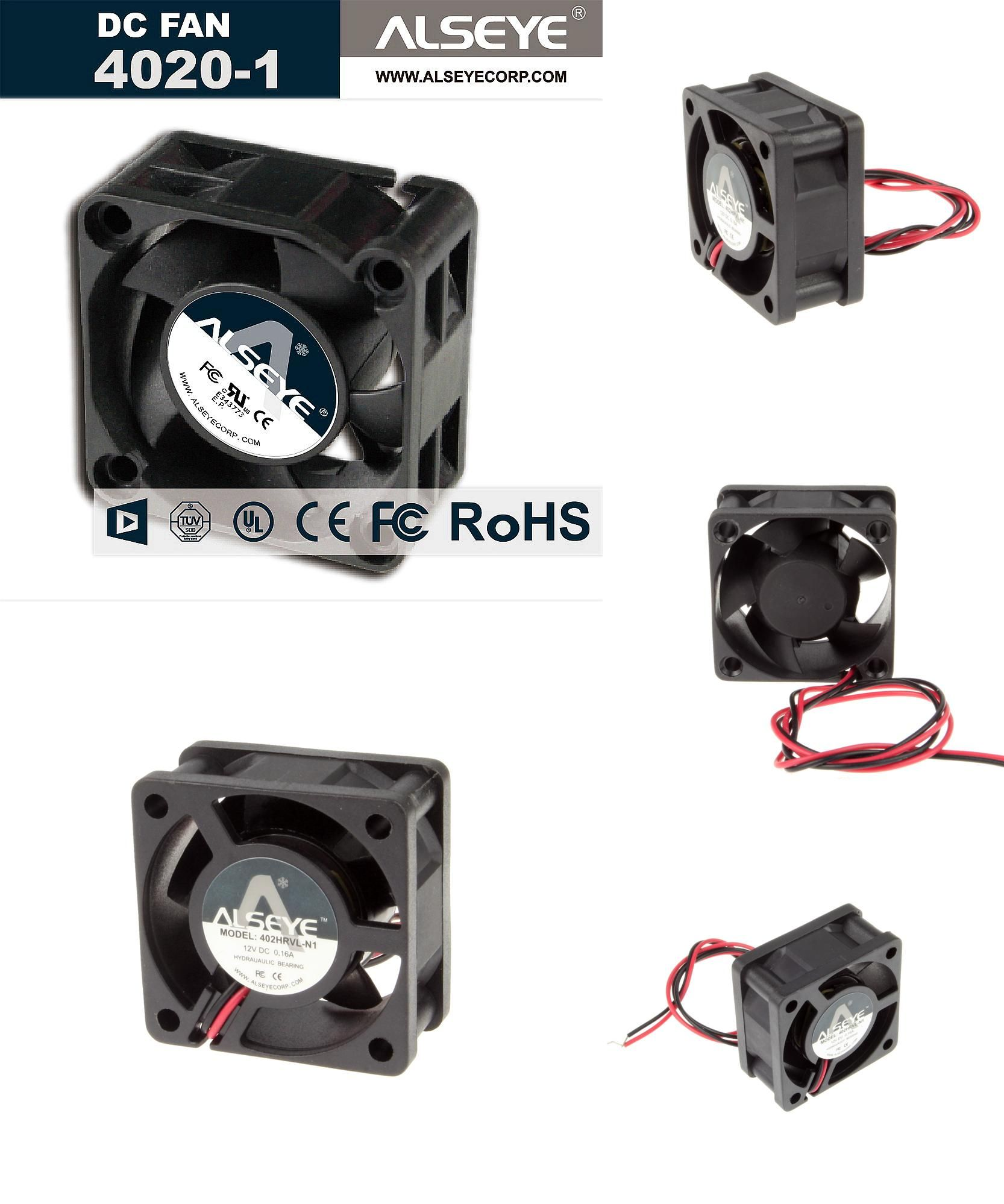 Visit To Buy Alseye 4020 Dc Cooling Fan 12v 0 16a 6000rpm