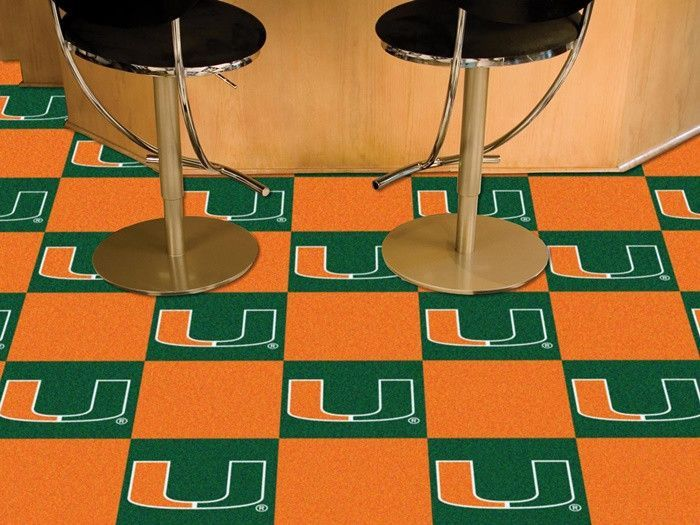 Miami Hurricanes Carpet Tiles Miami Hurricanes Miami And Miami - Discount tiles miami