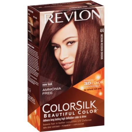 Revlon Colorsilk Beautiful Color Permanent Hair 44 Medium Reddish Brown