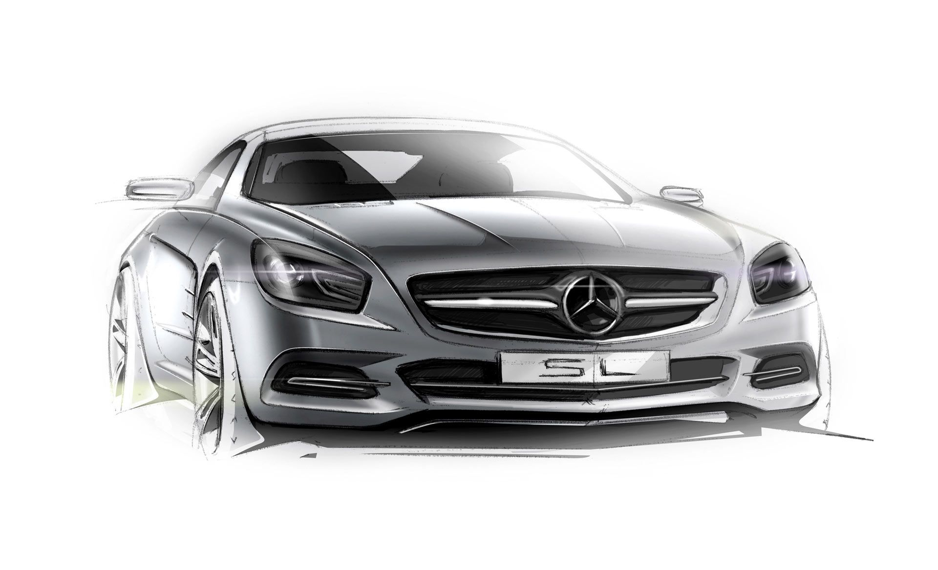 Mercedes-Benz SL-Class - Design Sketch | A | Pinterest | Skizzieren ...