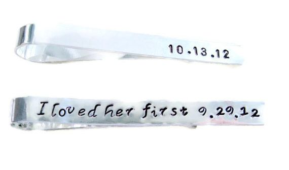 9b152f193cf0 Mens Personalized Tie Clip by MetalAdornments on Etsy, $18.00 ...