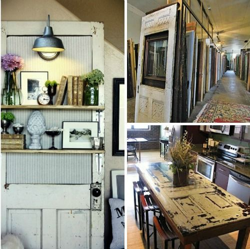 Kitchen Table Door: @Everyday Home Old Door Used As Kitchen Table Top Then