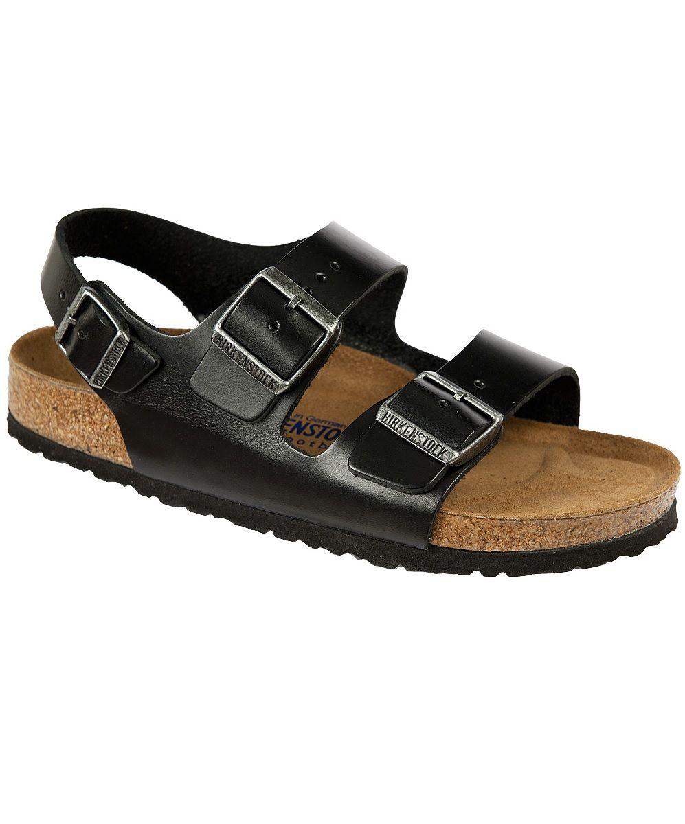 9050e9107 Birkenstock Milano Sandal. Black Amalfi Leather, Soft Footbed. Leather  sandal with a heel strap. #birkenstockexpress #germansandals  #contouredfootbed ...