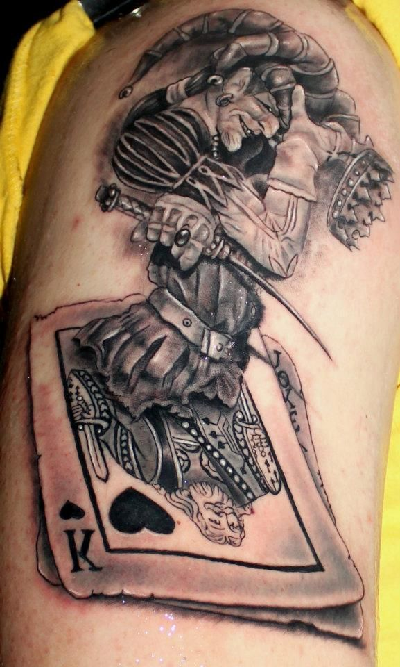Joker Card Tattoo Ideas: Kostas Baronis Proki Card Tattoo
