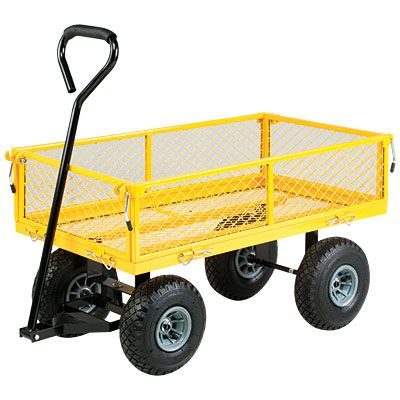 Steel Garden Cart   I Have One Of These (but More Heavy Duty That I