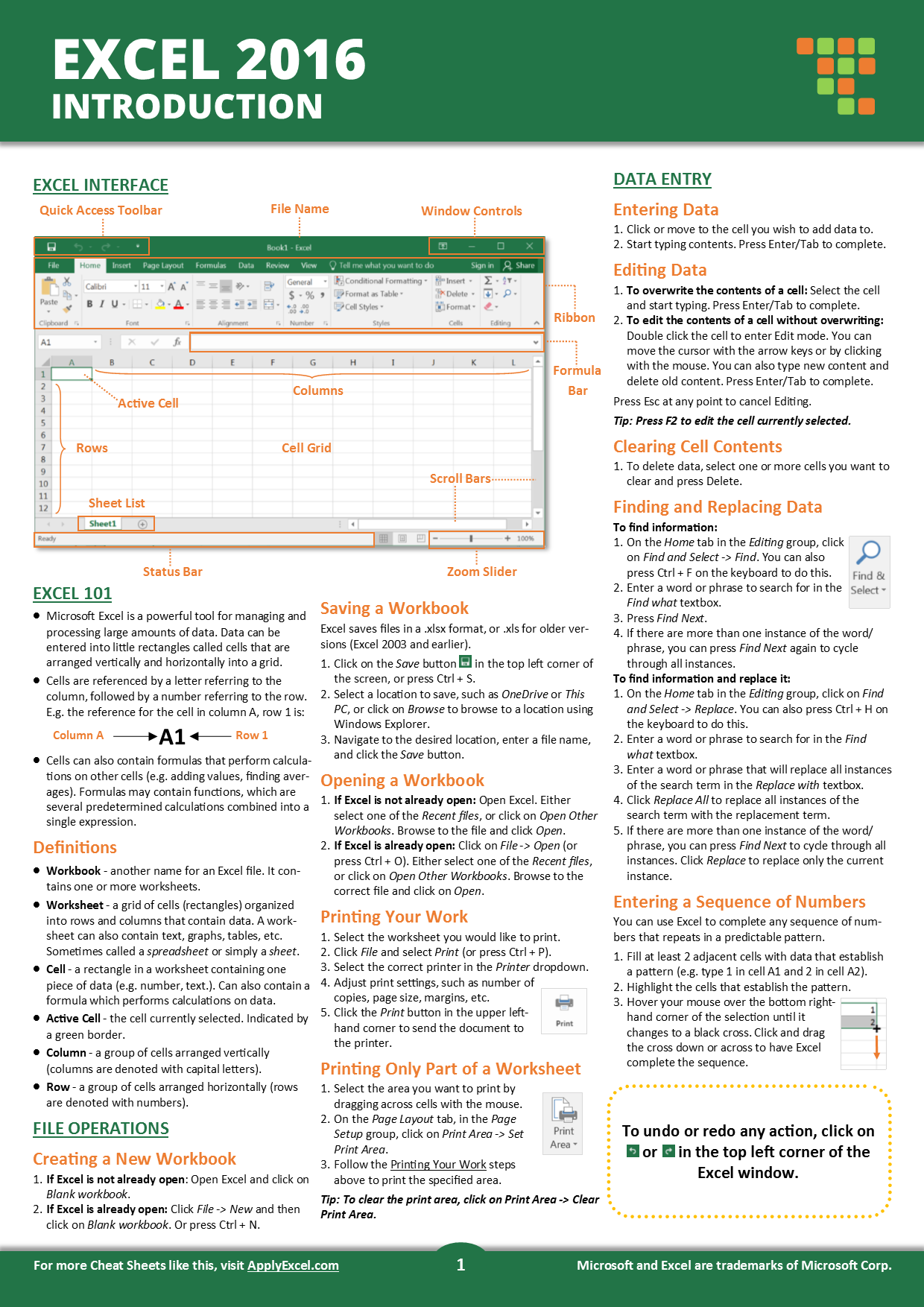 The Excel Introduction Cheat Sheet Will Teach You The Basic Of Excel Including How To