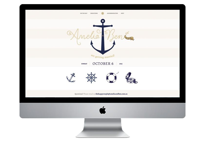 nautical-wedding-invitation-wedding-website | Website Design ...