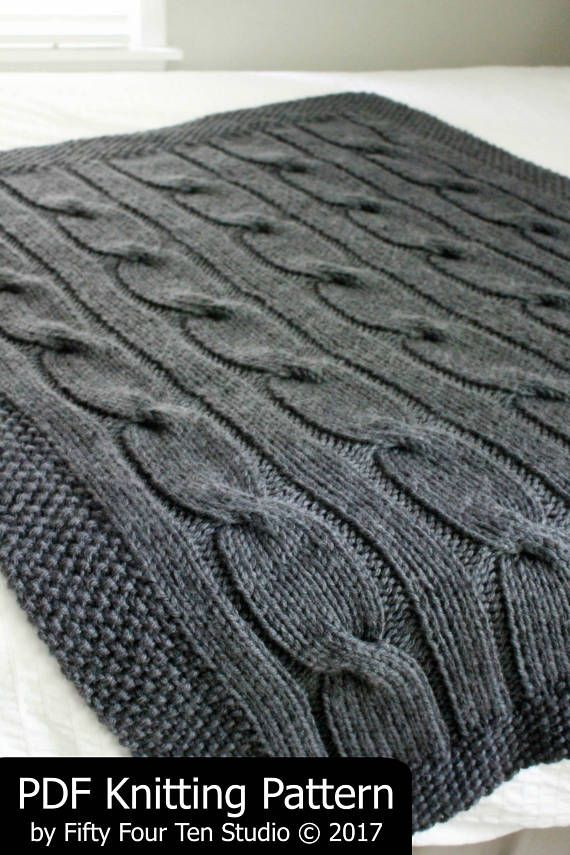 KNITTING PATTERN / Blanket / North of the River / Cable / Throw ...