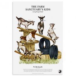 The Farm Sanctuary's Kids Print | The Do Unto Animals Gift Guide |Moomah the Magazine