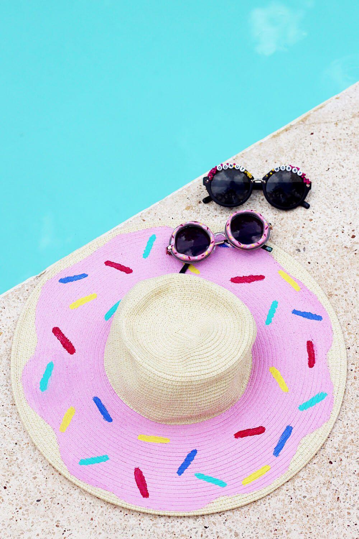 Diy Sonnenhut Mit Donut Print Verzieren Urlaubs Outfit Craft