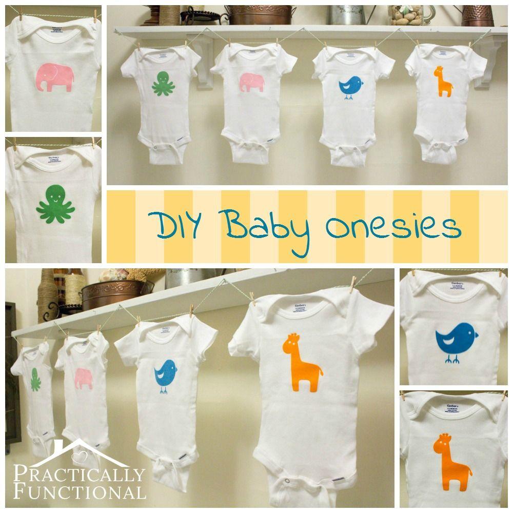 Adorable DIY baby animal graphic onesies silhouette machine and heat transfer vinyl - ae!!!