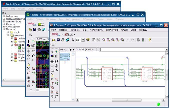 CadSoft Eagle Professional 6.4.0 рус. - САПР - Программы ...