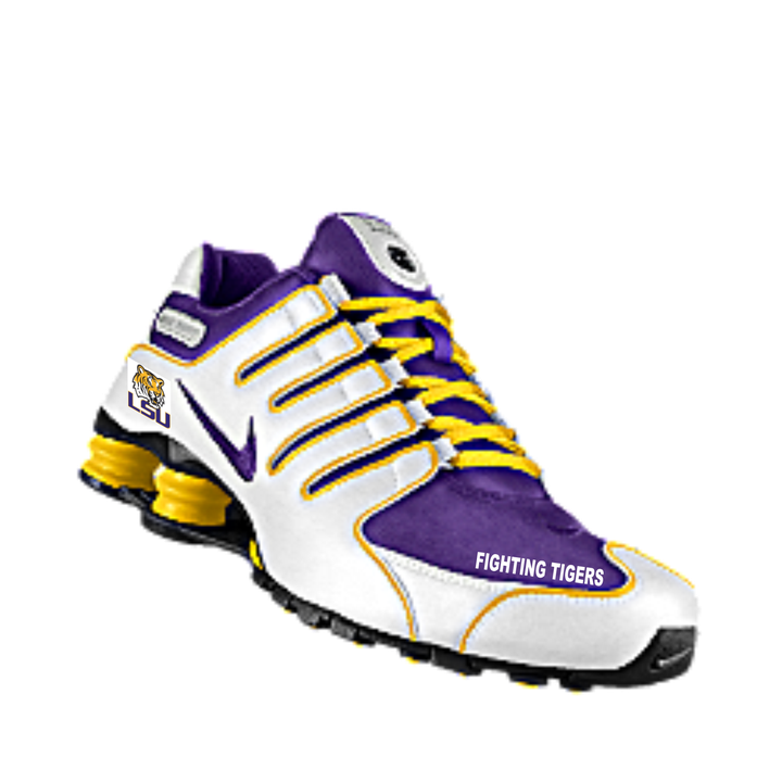 LSU Nike Shox NZ EU from Blingin Blitz for $260.00