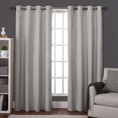 Design Decor Curtains Drape Lw8959 07 5596 Raw Silk Look Thermal