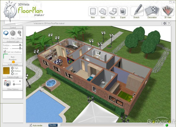 autodesk-homestyler-easy tool to create 2D House Layout and Floor