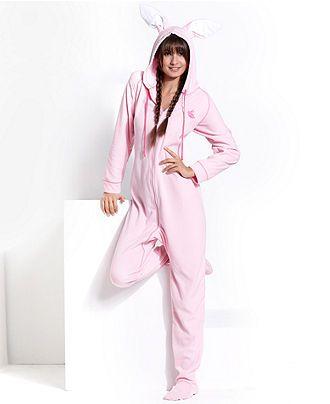 Jenni Pajamas, Ears Hooded Footed Pajamas - Womens Juniors Pajamas ...