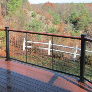 Fortresscable V Series Level Rail Panel Cable Railing Deck Railings Cable Railing Deck