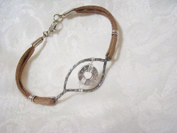 Evil Eye Protection Charm Bracelet Leather Strap By Shadedlines 15 00