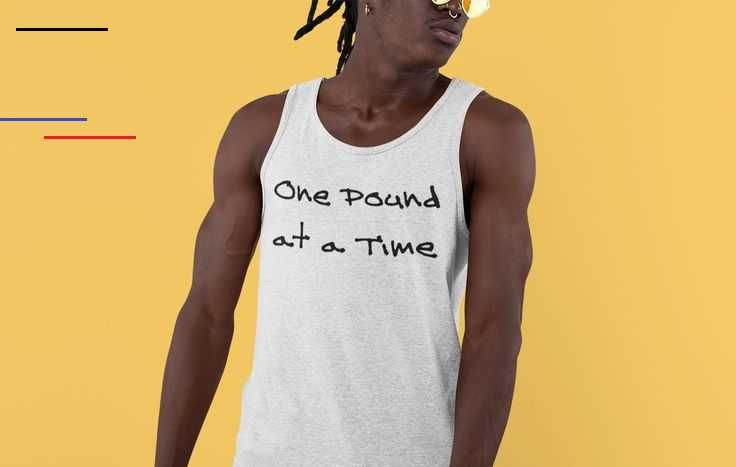 One Pound at a Time Tank Top #sport fashion #mens workout clothes #mens fitness #Gym wear #gym style...