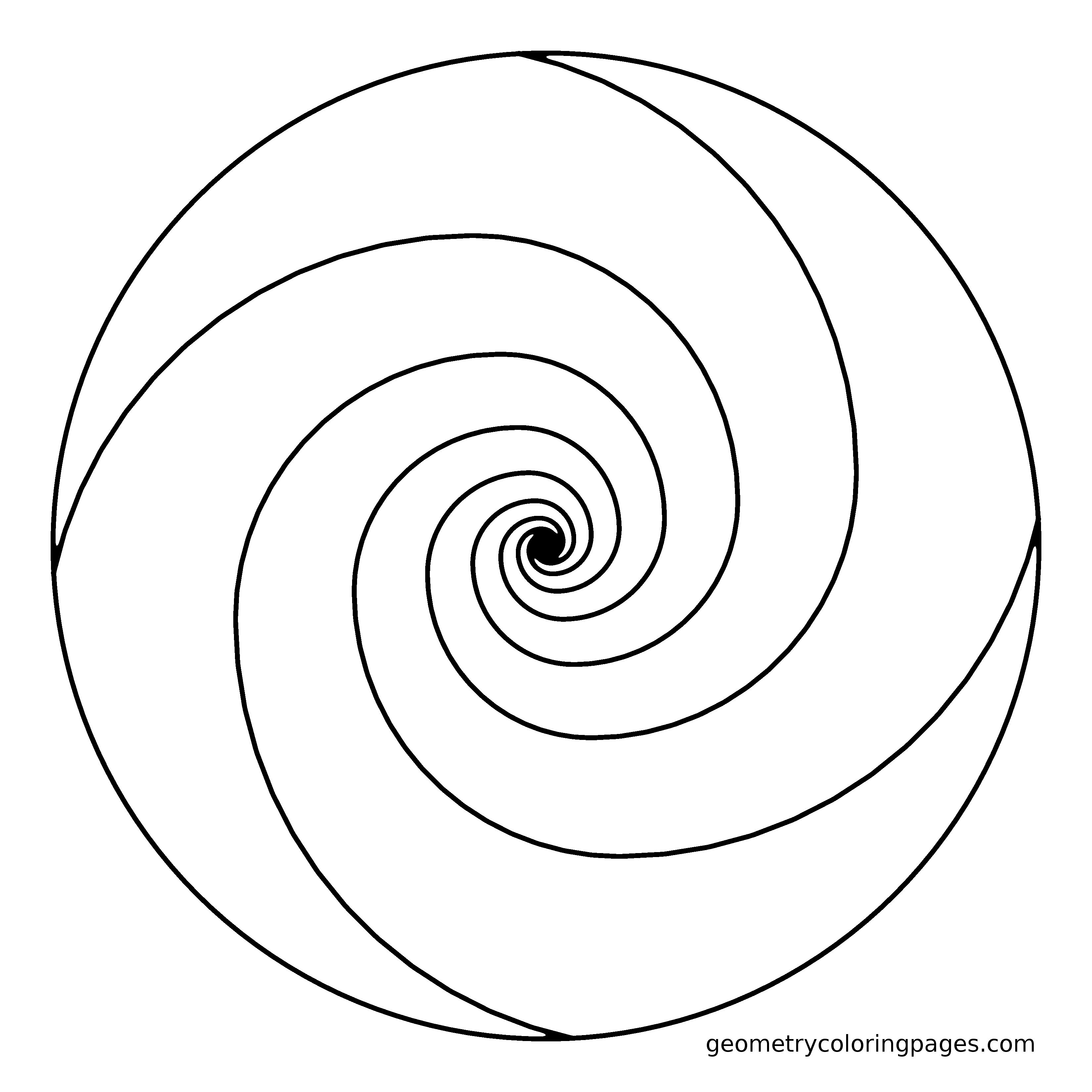 spiral coloring pages to print | Viewing Gallery For - Geometric Shapes Coloring Pages ...