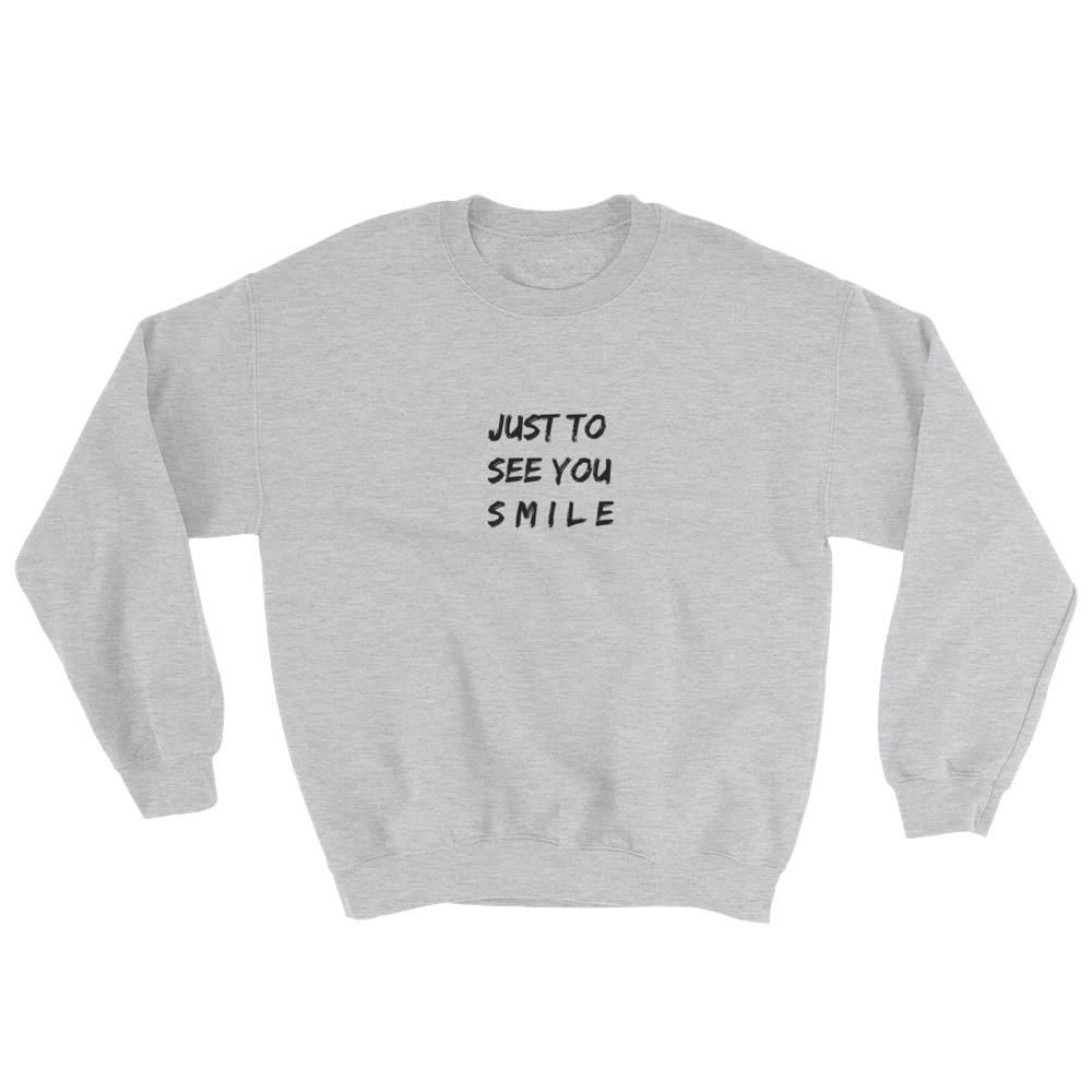 ed511092e Just To See You Smile Sweatshirt why don't we music 8 letters album  invitation tour limelight zach herron jack avery daniel seavey corbyn  besson jonah ...