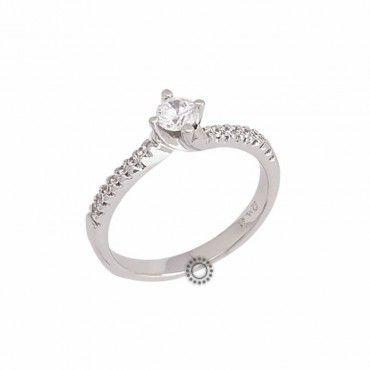 Ένα κομψό μονόπετρο δαχτυλίδι από λευκόχρυσο Κ14 με ζιργκόν 36e691dc10d