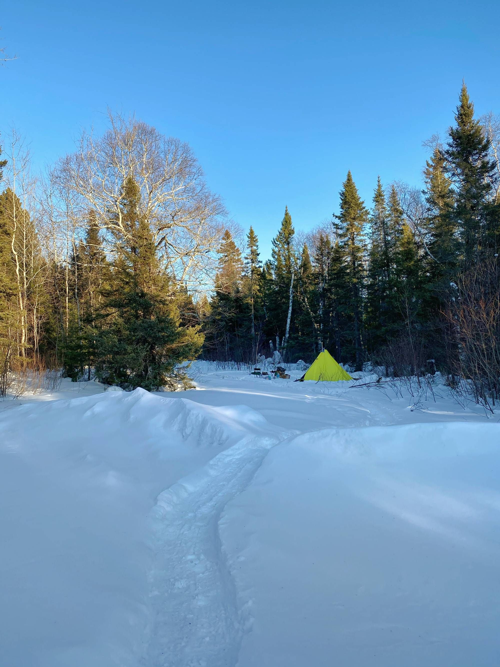 Had a winter adventure in northern Minnesota. Got the Jeep ...