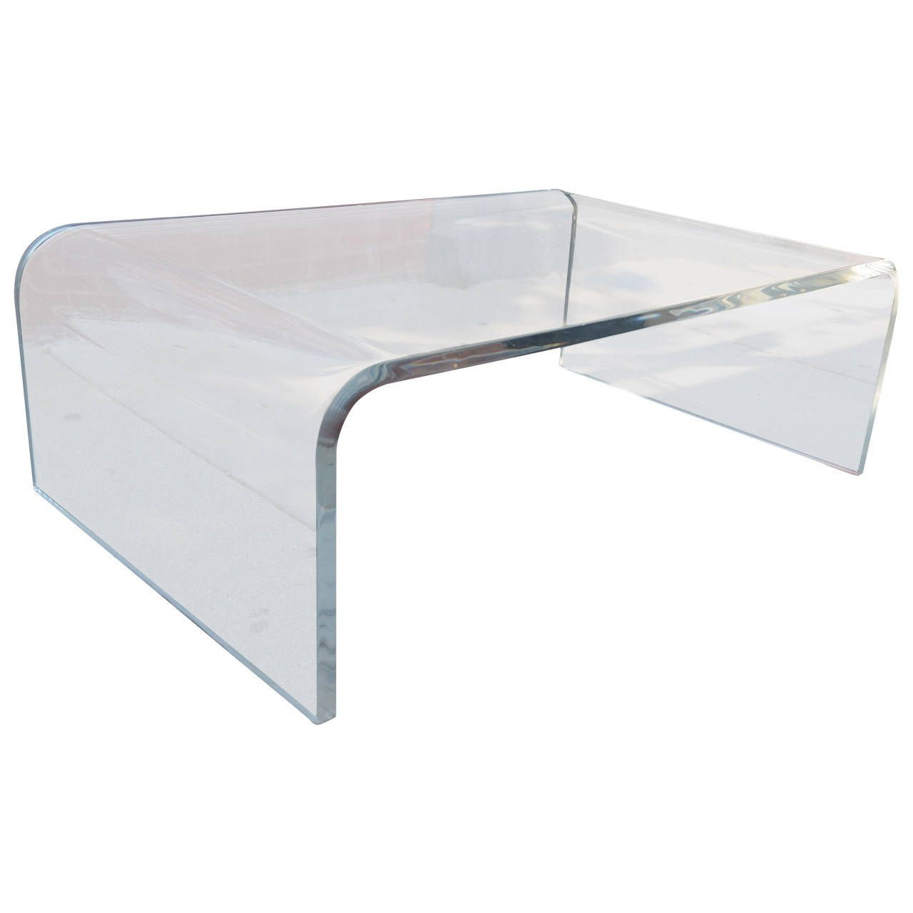 Lucite Waterfall Coffee Table From A Unique Collection Of