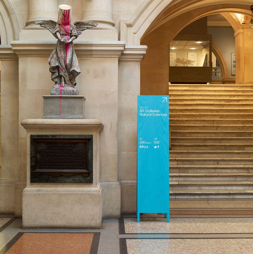 Signage Wayfinding Cartlidge Leven Design Bristol Museum & Art Architecture