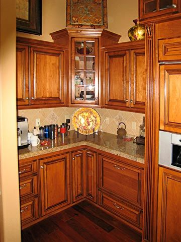corner kitchen cabinets | Custom Kitchen Cabinets from Darryn's ...