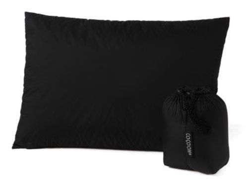Cocoon 100 Percent Goose Down Travel Pillow Large 13 By 17 Inches Black Camping Pillows Hiking Sleeping Bags Travel Pillow