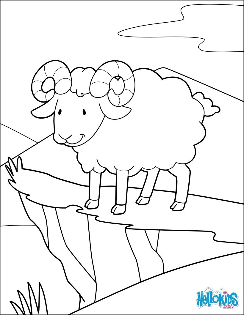Print Out And Color This Adventurer Ram Coloring Page Cute And Amazing Farm Animals Coloring P Farm Animal Coloring Pages Animal Coloring Pages Coloring Pages