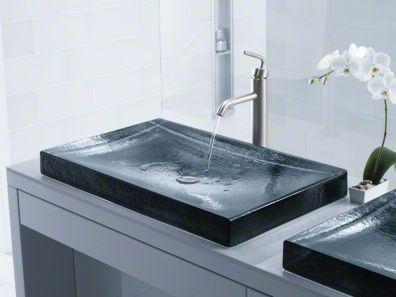 Expensive Kohler Faucet Glass Sink Bathroom Sink Sink Design