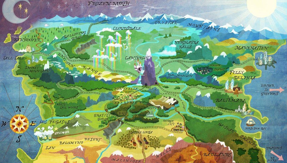 Mlp Equestria Map Map of Equestria | My Little Pony: Friendship is Magic | Little