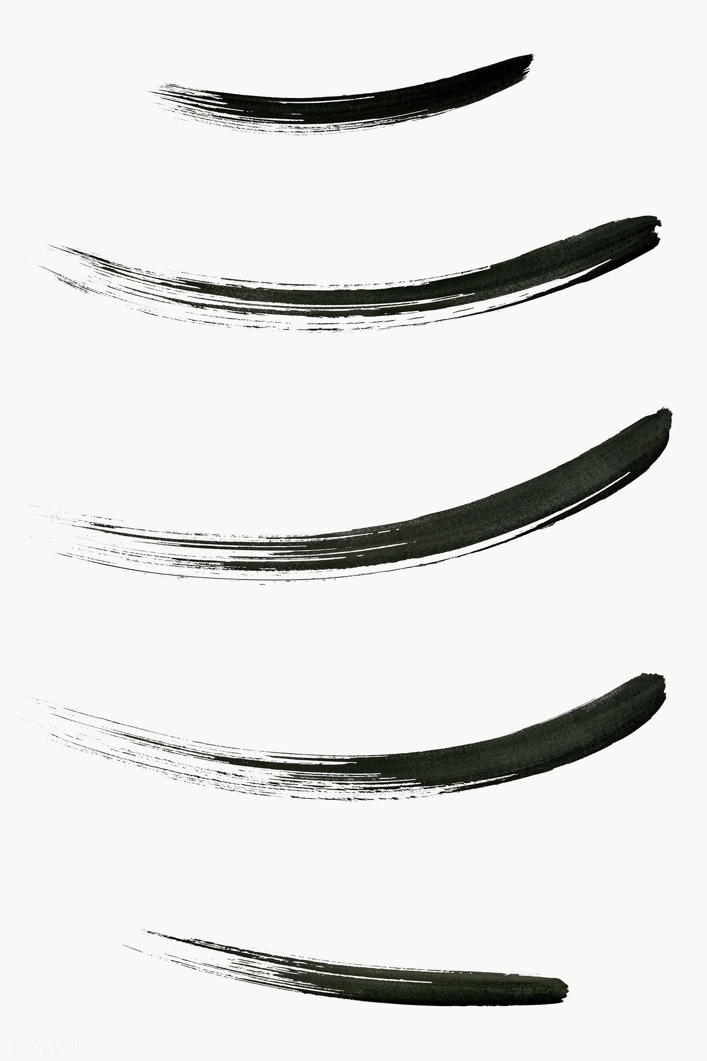Abstract Black Brush Stroke Set Transparent Png Free Image By Rawpixel Com Aew Brush Strokes Brush Stroke Vector Abstract