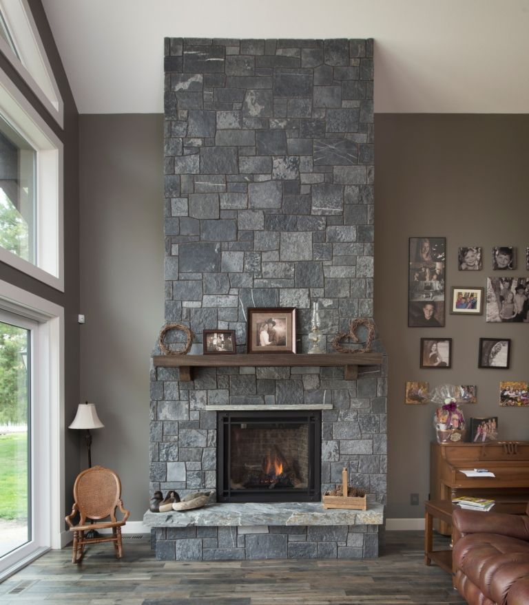 Natural Stone For Fireplace stone fireplace: black rundle, castlestone - pangaea® natural