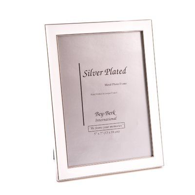 Winston Porter Arciniega Silver Plated Picture Frame Colour White Metal Picture Frames Picture Frame Sets Wood Picture Frames