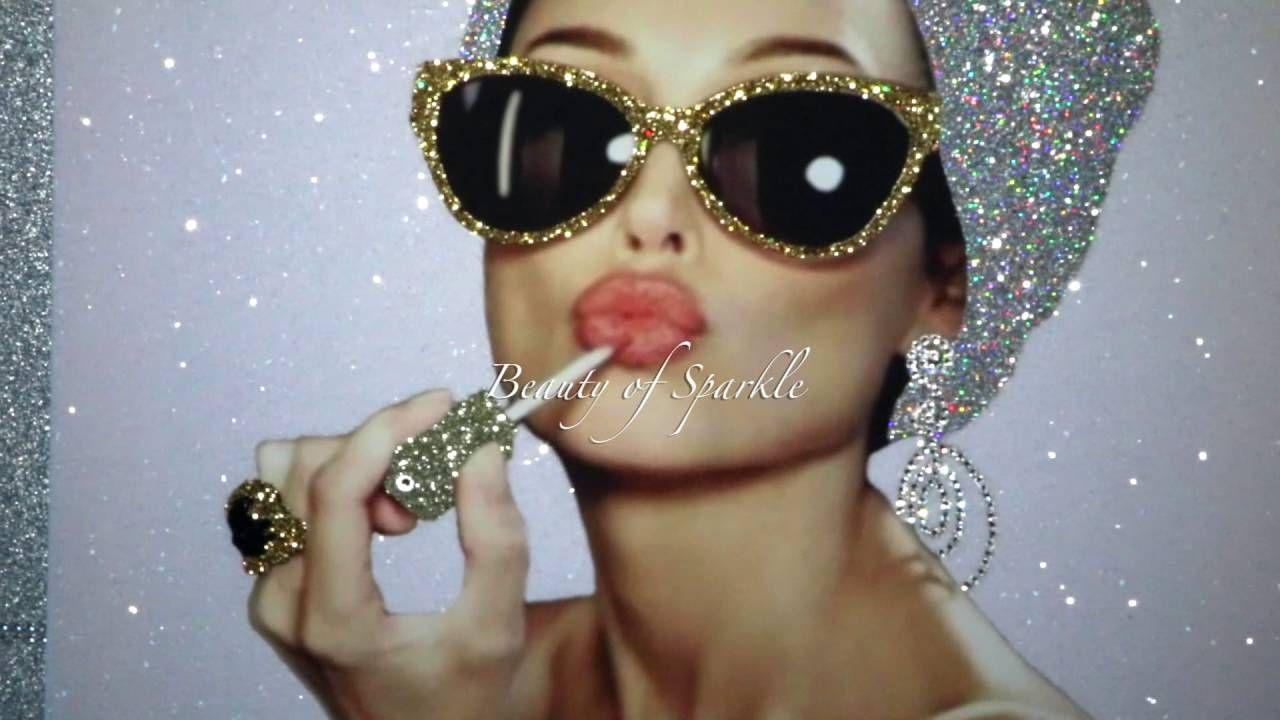Audrey Hepburn canvas  Picture Original or WITH GLITTER DIAMOND DUST!!!