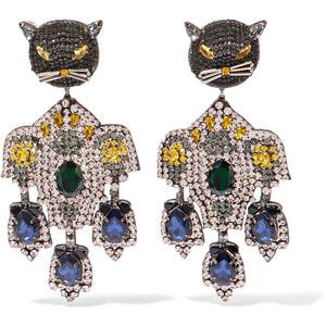 Gucci Gold-tone Crystal Clip Earrings 6EJDIj0a