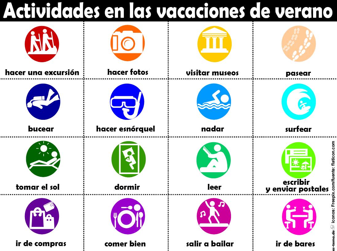 Por Fin Vacaciones Es Tema De Learning Spanish Vocabulary Learning Spanish Spanish Activities